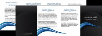 faire depliant 4 volets  8 pages  web design bleu couleurs froides gris MIF79595