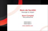 realiser carte de visite web design rouge rond abstrait MLGI79649