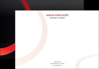 creer modele en ligne affiche web design rouge rond abstrait MIF79653