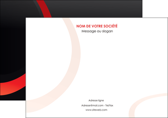 personnaliser modele de affiche web design rouge rond abstrait MIF79655