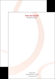 creation graphique en ligne tete de lettre web design rouge rond abstrait MIF79663