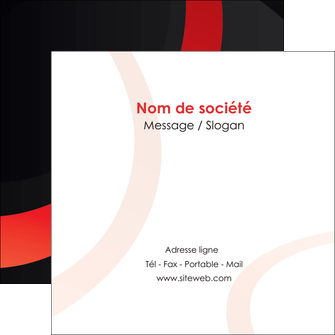personnaliser maquette flyers web design rouge rond abstrait MLGI79665
