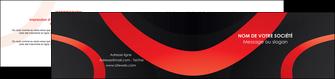 faire modele a imprimer depliant 2 volets  4 pages  web design rouge rond abstrait MIF79667