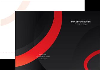 personnaliser maquette pochette a rabat web design rouge rond abstrait MLGI79677