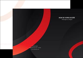 maquette en ligne a personnaliser pochette a rabat web design rouge rond abstrait MIF79679