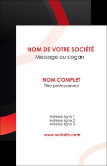 faire carte de visite web design rouge rond abstrait MLGI79681