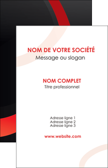 faire carte de visite web design rouge rond abstrait MLGI79681