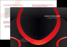 faire modele a imprimer depliant 2 volets  4 pages  web design rouge rond abstrait MIF79685