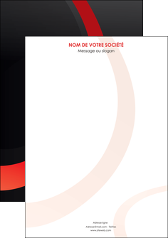 impression affiche web design rouge rond abstrait MIF79689