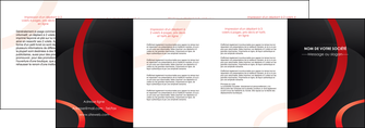 exemple depliant 4 volets  8 pages  web design rouge rond abstrait MIF79693