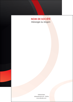 realiser affiche web design rouge rond abstrait MIF79695