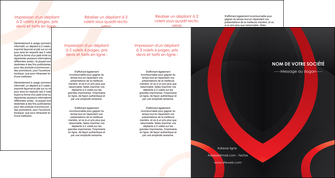maquette en ligne a personnaliser depliant 4 volets  8 pages  web design rouge rond abstrait MIF79697