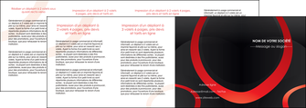 imprimerie depliant 4 volets  8 pages  web design rouge rond abstrait MIF79699