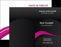 Commander carte de visite plastique transparent Web Design Carte commerciale de fidélité modèle graphique pour devis d'imprimeur Carte de visite Double - Portrait