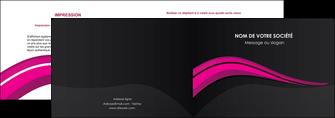 creer modele en ligne depliant 2 volets  4 pages  web design violet fond violet arriere plan MIF80313