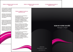 faire depliant 3 volets  6 pages  web design violet fond violet arriere plan MIF80323