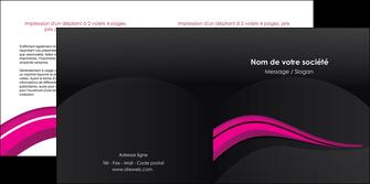 exemple depliant 2 volets  4 pages  web design violet fond violet arriere plan MIF80327