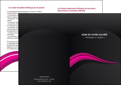 imprimerie depliant 2 volets  4 pages  web design violet fond violet arriere plan MIF80337