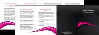 cree depliant 4 volets  8 pages  web design violet fond violet arriere plan MIF80341