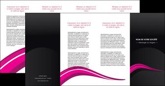 creer modele en ligne depliant 4 volets  8 pages  web design violet fond violet arriere plan MIF80345