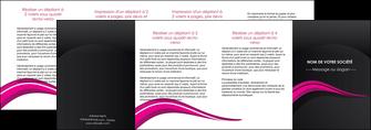 personnaliser maquette depliant 4 volets  8 pages  web design violet fond violet arriere plan MIF80347