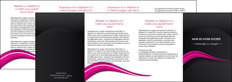 personnaliser maquette depliant 4 volets  8 pages  web design violet fond violet arriere plan MLGI80347
