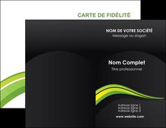 Commander Carte de fidélité Paysage Carte commerciale de fidélité modèle graphique pour devis d'imprimeur Carte de visite Double - Portrait