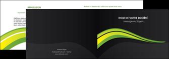 personnaliser modele de depliant 2 volets  4 pages  paysage vert gris nature MIF80365