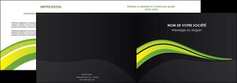 cree depliant 2 volets  4 pages  paysage vert gris nature MIF80367