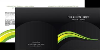 impression depliant 2 volets  4 pages  paysage vert gris nature MIF80379