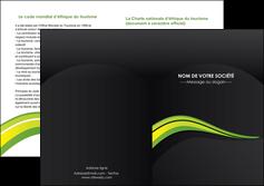 imprimer depliant 2 volets  4 pages  paysage vert gris nature MLIGBE80389