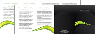 realiser depliant 4 volets  8 pages  paysage vert gris nature MIF80393