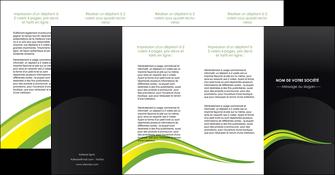 faire modele a imprimer depliant 4 volets  8 pages  paysage vert gris nature MIF80397