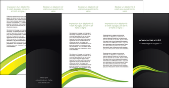 faire modele a imprimer depliant 4 volets  8 pages  paysage vert gris nature MLIGBE80397
