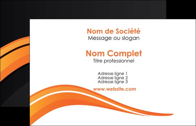 Carte de visite modèle et exemple orange, gris, couleur froide