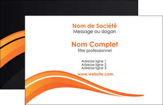 exemple carte de visite web design orange gris couleur froide MLGI80401
