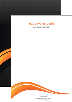 cree flyers web design orange gris couleur froide MIF80403