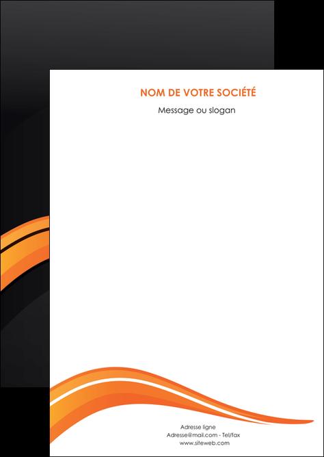 modele flyers web design orange gris couleur froide MLGI80405