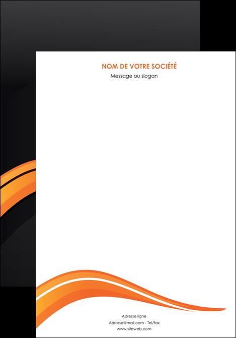 exemple affiche web design orange gris couleur froide MLGI80407