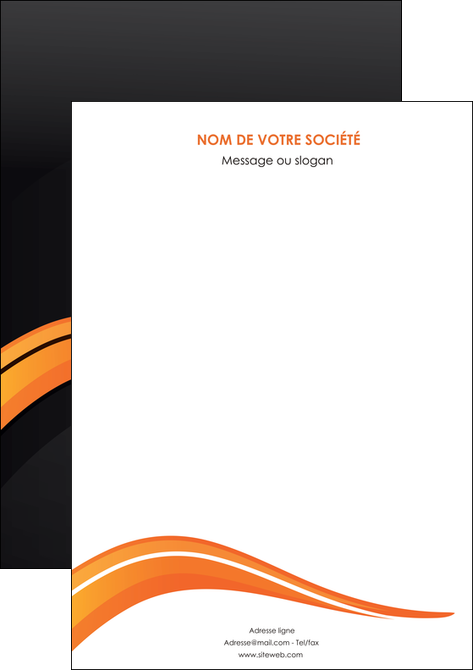 realiser affiche web design orange gris couleur froide MLGI80409