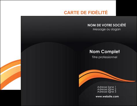 cree carte de visite web design orange gris couleur froide MLGI80411
