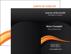 cree carte de visite web design orange gris couleur froide MIF80411