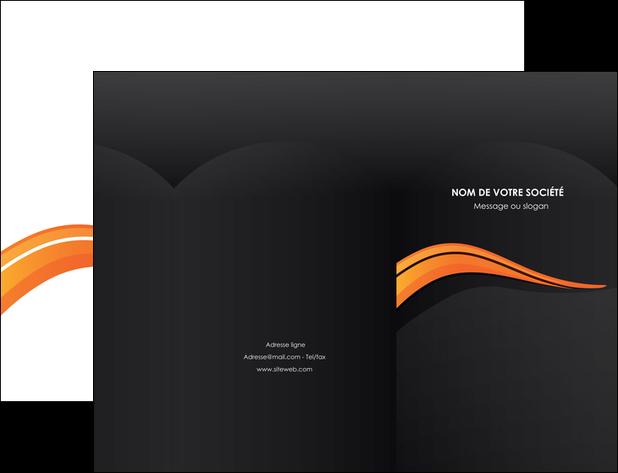 imprimerie pochette a rabat web design orange gris couleur froide MLGI80413