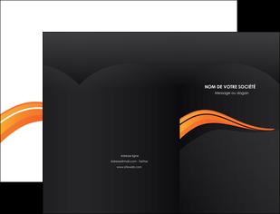 imprimerie pochette a rabat web design orange gris couleur froide MIS80413