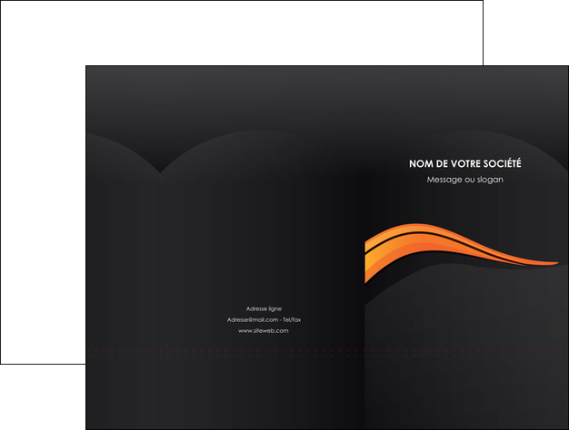 creation graphique en ligne pochette a rabat web design orange gris couleur froide MLGI80415