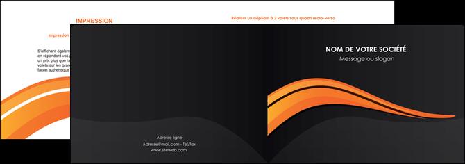 personnaliser maquette depliant 2 volets  4 pages  web design orange gris couleur froide MLGI80417