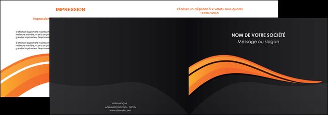 creation graphique en ligne depliant 2 volets  4 pages  web design orange gris couleur froide MLGI80419