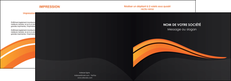 creation graphique en ligne depliant 2 volets  4 pages  web design orange gris couleur froide MIF80419