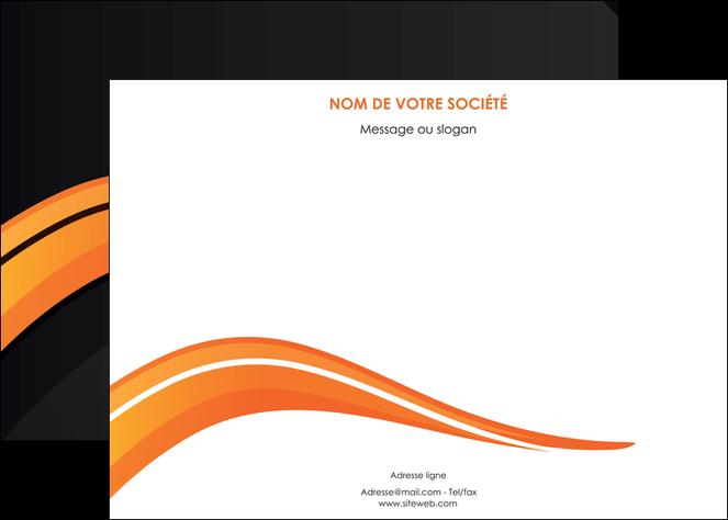 faire modele a imprimer affiche web design orange gris couleur froide MLGI80421