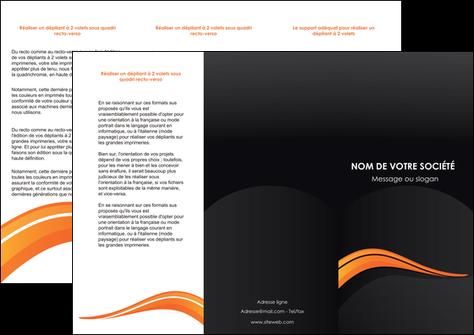 impression depliant 3 volets  6 pages  web design orange gris couleur froide MLGI80427